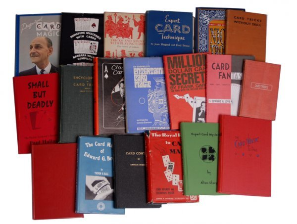29: Collection of 24 hardbound books on card tricks