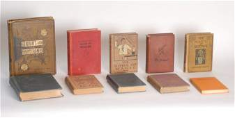 169 Group of ten victorian and later hardbound books a