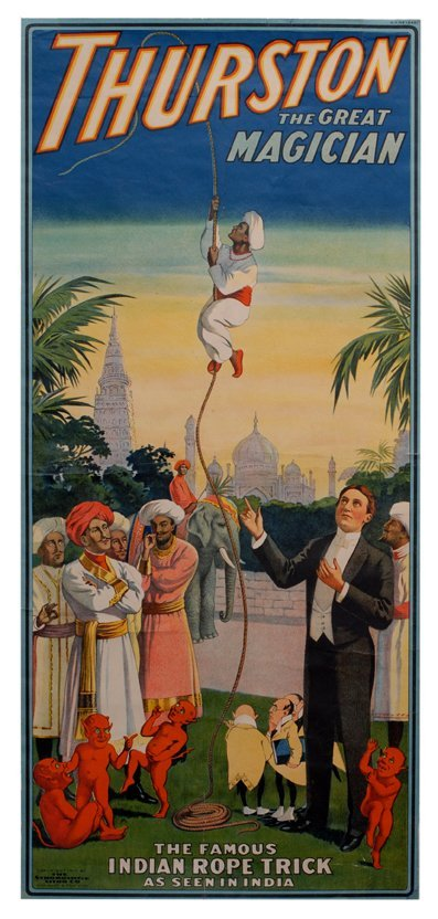 287: Thurston, Howard poster. The Great Indian Rope Tri