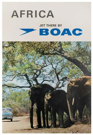 [AFRICA] BOAC / Africa. 1960s/70s. Photographic airline