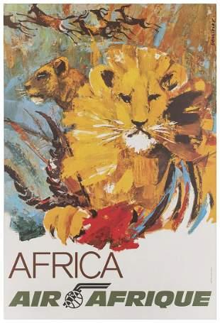 [AFRICA] DESSIRIER, Jean (b. 1944). Air Afrique /