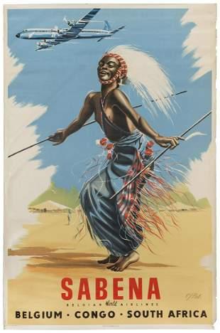 [AFRICA] Sabena / Belgium – Congo – South