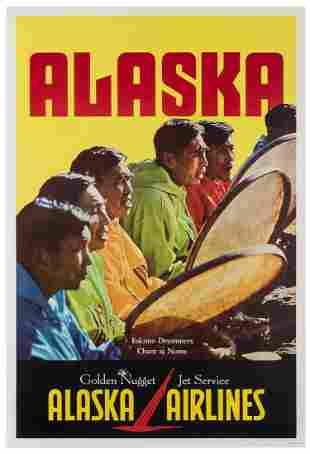 Alaska Airlines / Eskimo Drummers. USA, 1970s. Color