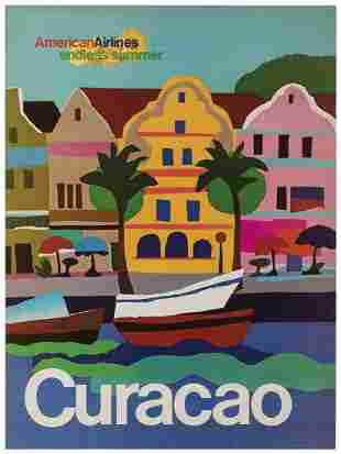 American Airlines / Curacao. USA, 1970s. From AA'