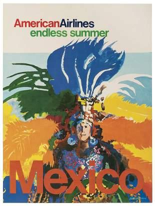 BERTSCHMANN. American Airlines / Mexico. USA, 1970s.