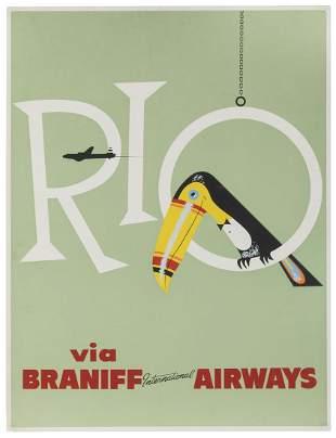 Braniff International Airways / Rio. 1960s. Airline