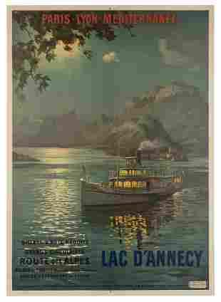 CACHOUD, Francoise (1866-1943). Lac d'Annecy.