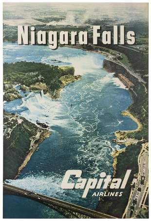 Capital Airlines / Niagara Falls. 1960s. Photographic