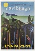 FINE, Aaron. Pan Am / Caribbean. 1960s. Lithograph