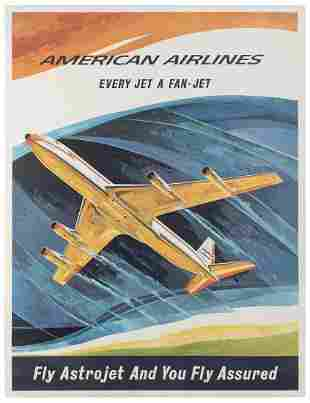HANKE. American Airlines / Fly Astrojet. 1960s.