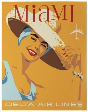 HARDY, John (1923–2004). Delta Air Lines / Miami.