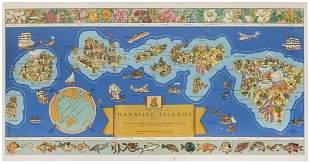 [HAWAII] Dole Pictorial Map of the Hawaiian Islands.