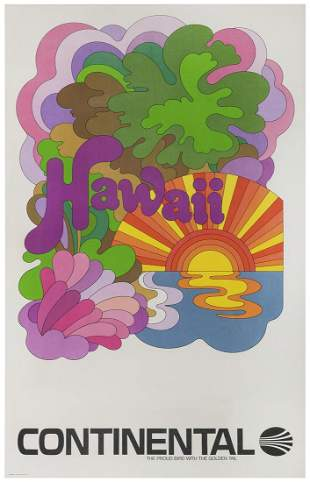 Hawaii / Continental Airlines. Circa 1960s. A travel