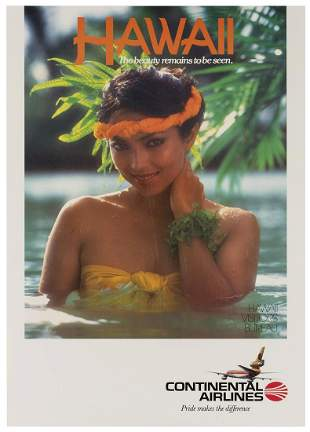 Hawaii / Continental Airlines. Circa 1970s.