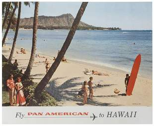 Pan American / Hawaii. 1960s. Photographic airline