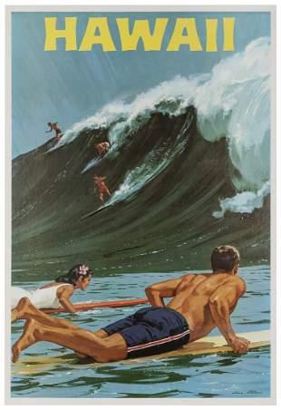 Allen, Charles. Hawaii. 1960s. Offset lithograph travel
