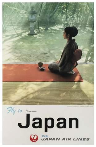 Japan Air Lines / Kohtoh-in Monastery. Japan, 1968. A