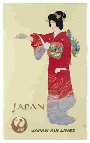 Japan Air Lines / Japan. 1960s. Originally painted in