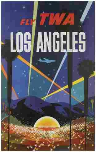 KLEIN, David (1918-2005). TWA / Los Angeles. Circa