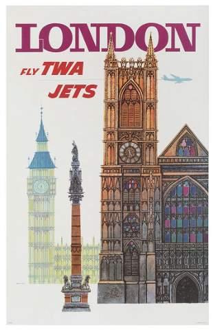 KLEIN, David (1918-2005). London / Fly TWA Jets. USA,