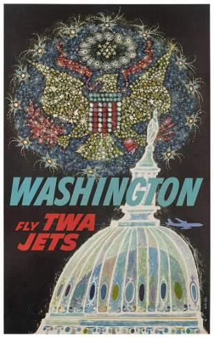 KLEIN, David (1918-2005). TWA / Washington. 1960s.