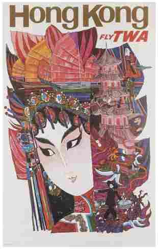 KLEIN, David (1918-2005). TWA / Hong Kong. Circa 1965.