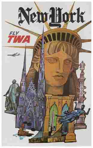 KLEIN, David (1918-2005). TWA / New York. USA, 1960s.