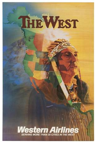 LEICK, E. Carl. The West / Western Airlines. 1980s.