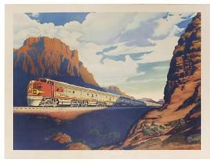 BEALS, Victor. Santa Fe Chief. Circa 1949. Offset