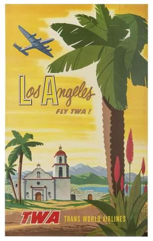 SMITH, Bob. TWA / Los Angeles. Circa 1956. Original
