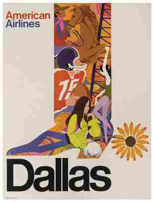 [TEXAS] American Airlines / Dallas. USA, 1970s. Images