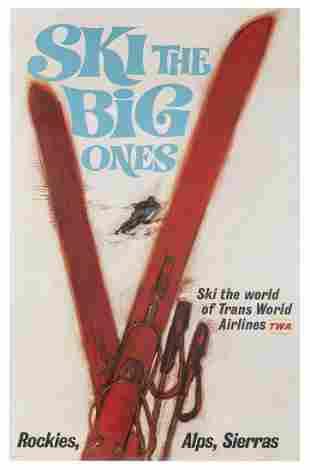 SIGOUROS, Thomas. TWA / Ski the Big Ones. USA, 1960s.