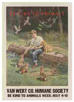 MEGARGEE, Edwin. Be Kind to Animals / Van Wert Humane