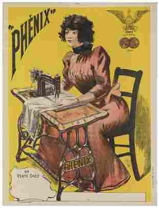 Phenix. Paris, 1894. Color lithograph advertising for