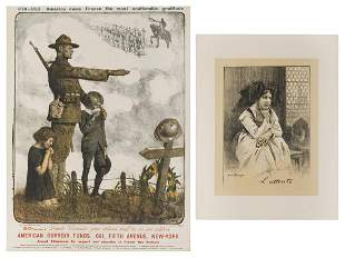[WORLD WAR I] Two French WWI Posters. Including: JONAS,