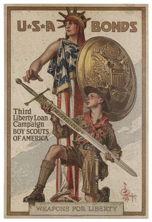 LEYENDECKER, Joseph C. (1874-1951). USA Bonds / Boy