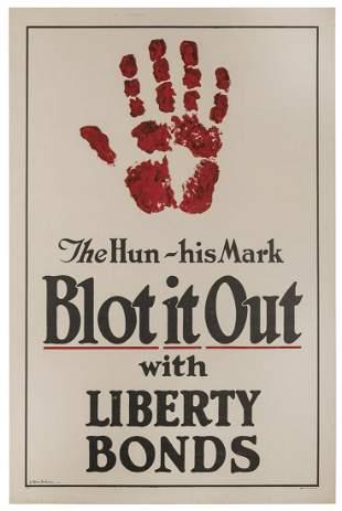 ST. JOHN, J. Allen. The Hun – His Mark / Blot It
