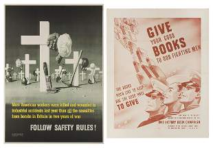 [WORLD WAR II] Two American WWII Posters. Including: