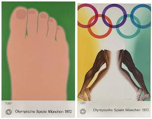 Two Munich 1972 Olympics Posters. Including designs by
