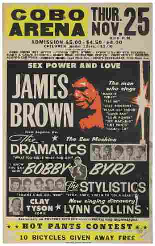 """James Brown """"Sex Power and Love"""" Concert"""