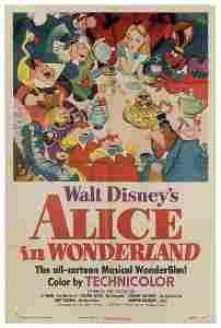 Alice in Wonderland. Walt Disney/RKO, 1951. Original