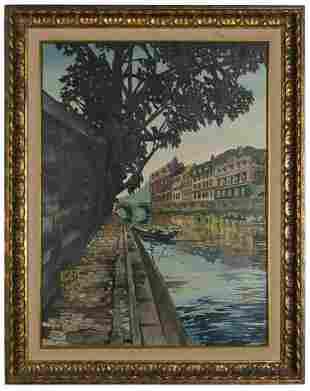 BLUE, Robert D. (American, 1946-1998). Canal Scene.