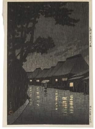 HASUI, Kawase (1883–1957). Soshu Maekawa no ame
