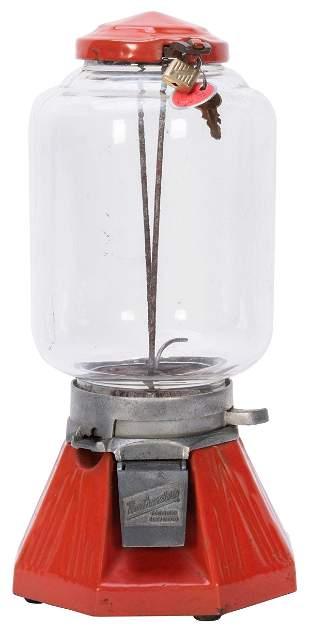 Northwestern Mfg. Co. Model 33 1 Cent Peanut Vendor.