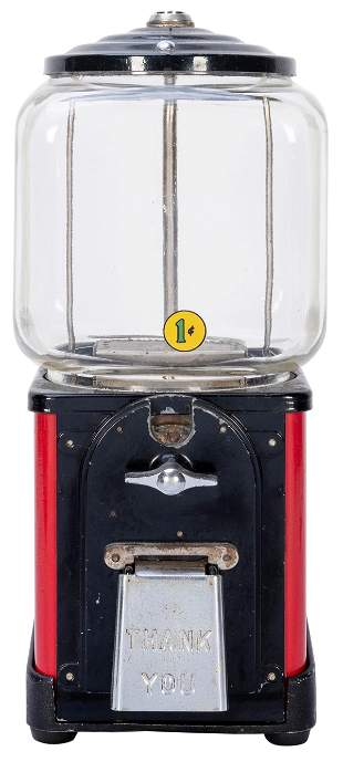 Victor Vending Corp. Topper 1 Cent Gumball Machine.