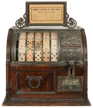 Mills Novelty Co. 1 Cent Jockey Trade Stimulator.