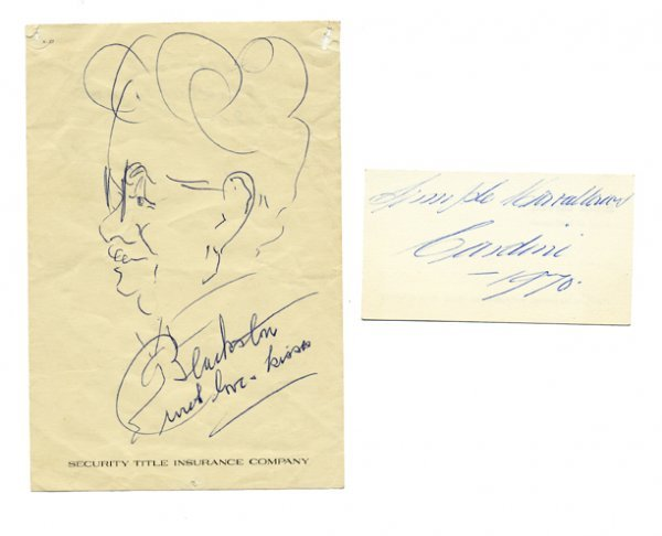 1: Collection of magician's autographs and ephemera