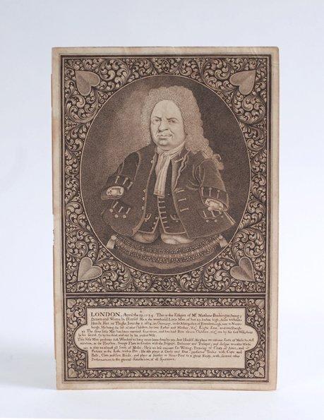 4: Engraved portrait of Matthew Buchinger