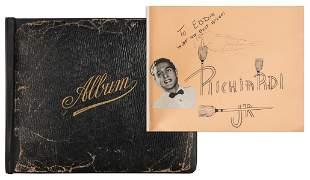 [Autographs] Remarkable Autograph Album of Famous