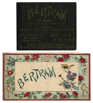 Bertram, Charles (James Bassett). Two Handbills for